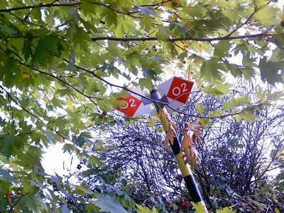Πινακίδες σήμανσης του Ο2. Στην πορεία μας συναντήσαμε δύο τέτοιες ταμπέλες.